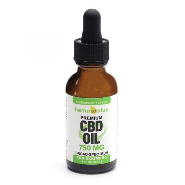 750 mg CBD oil, broad-spectrum, 25 mg of CBD per serving, peppermint flavor