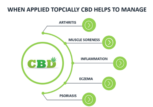 when applied topically cbd helps to manage